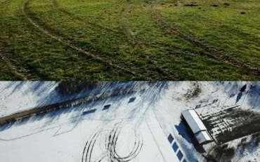 Unbekannte Drifter beschädigen Fußballplatz des FC Greifenberg