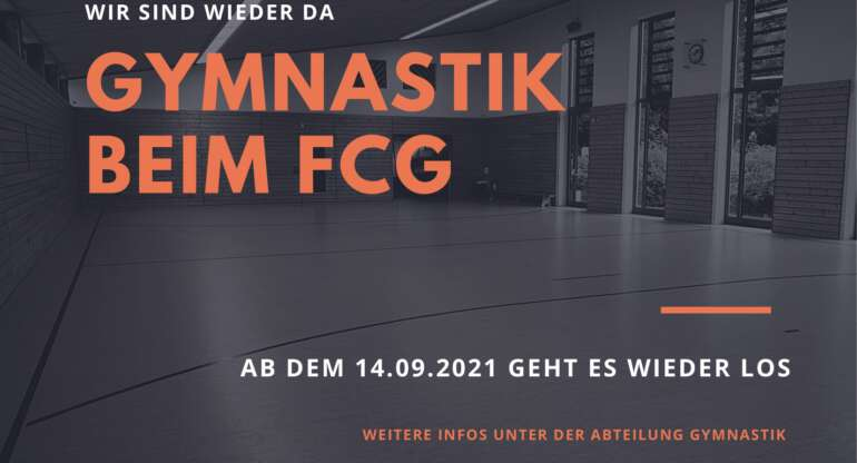 Gymnastik beim FCG – Wir sind wieder da!