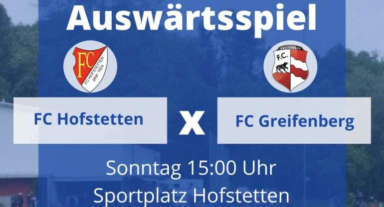 FC Greifenberg vs. FC Hofstetten